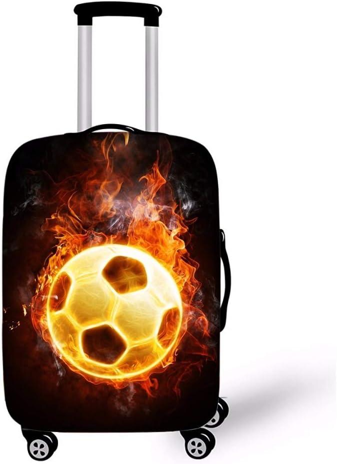 Viaje Fútbol Tema Cuero Alta Elasticidad Juegos de Equipaje Espesar a Prueba de Polvo Rasguño Estuche Protector Lejos Ventilador Apuntalar/D/S
