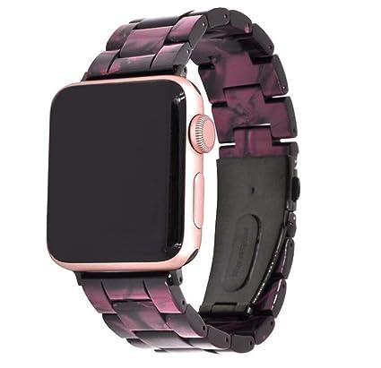 QIONGQIONG Iwatch Apple Watch Reloj Inteligente Resina Correa De Cerámica Correa para La Muñeca Correa Adaptador