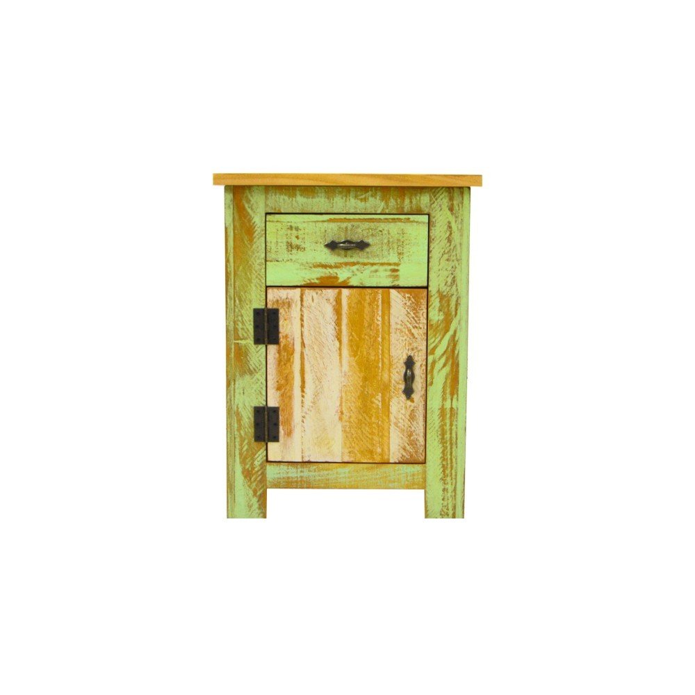 Reclaimed Accent Cabinet Solid Wood Distressed Color by The Beach House Design (Image #3)