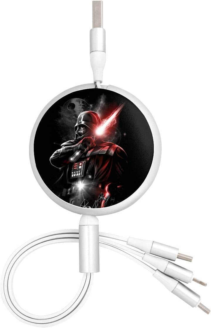 Darth Vader Type-C Universal Interface 1 Three-in-One Data Cable Suitable for All Kinds of Mobile Phones and Tablets Such As Apple Android USB Cable High Speed Data and Charging