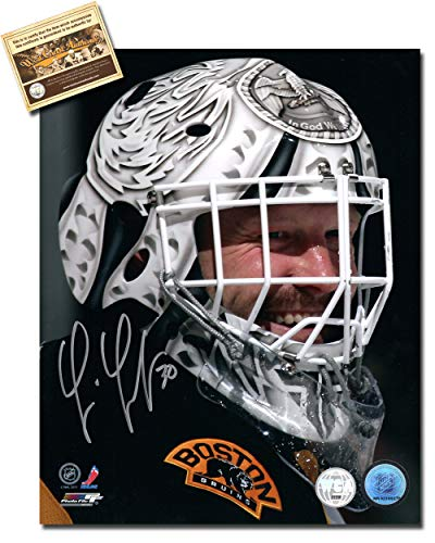 Tim Thomas Autographed 8 x 10 Hockey Photo Memorabilia Certified with WCA Dual Authentication Holograms and COA