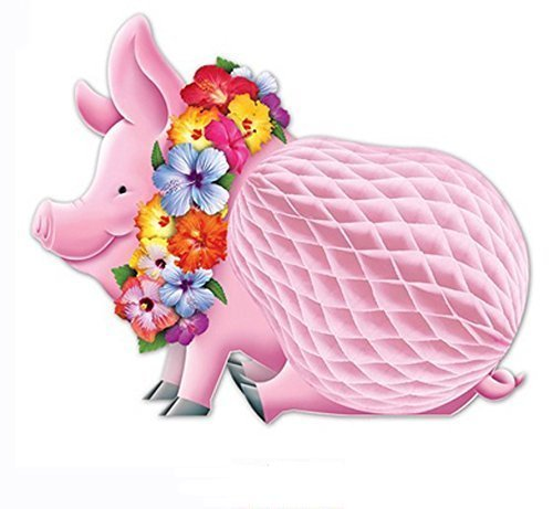 Luau Pig Centerpiece, 12-inch Pkg/3