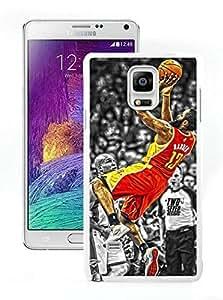 New Custom Design Cover Case For Samsung Galaxy Note 4 N910A N910T N910P N910V N910R4 Houston Rockets James Harden 2 White Phone Case Kimberly Kurzendoerfer