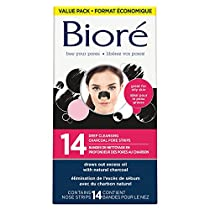 BIORE Deep cleansing charcoal pore strip value pack 14 Count