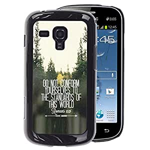 A-type Arte & diseño plástico duro Fundas Cover Cubre Hard Case Cover para Samsung Galaxy S Duos S7562 (Do Not Conform Inspiring Free Quote)