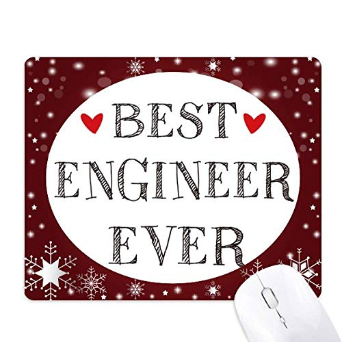 Best Engineer Ever Quote Profession Mouse Pad Winter Snowflake Rubber