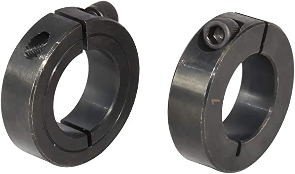 AZSSMUK 1-1//2 Bore Single Split Clamp-On Shaft Collars with Set Screw of 2-packed