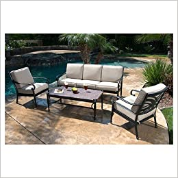 Amazon.com: Kent 4 Piece Metal Patio Conversation Furniture Set  (6954997000496): Books