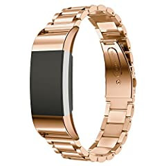 Parameter and Feature: Net weight: 50g Size: Fitbit Charge 2 Band Regular Length Materials: 316L Stainless Steel Applicable crowd: Women / Men Suitable occasion: Company, office, business, dinner party and other formal occasion.  Warranty: 1 ...