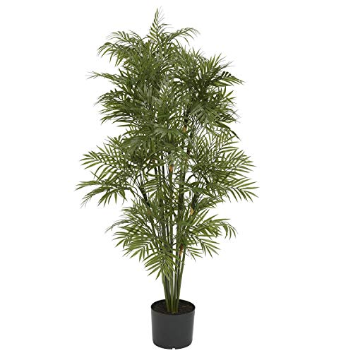 (MISC 4ft Parlour Palm-Tree Tall Artificial Indoor Decorative Plant Realistic Chamaedorea Elegans Palms Tropical Greenery Feaux Plants 48in, Polyester Blend)