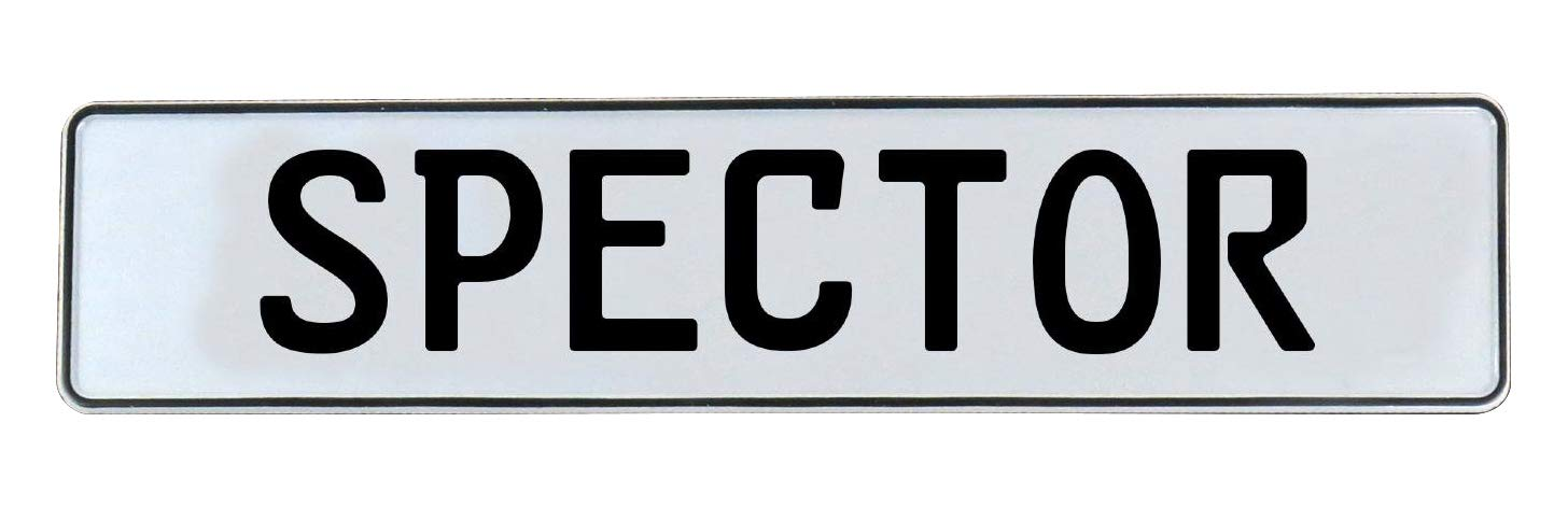 Vintage Parts 753928 Wall Art Spector White Stamped Aluminum Street Sign Mancave