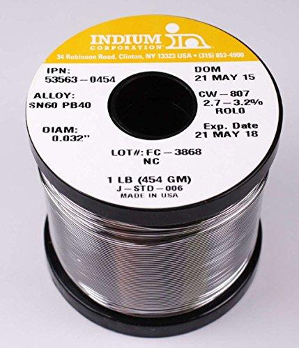 /40 No Clean Wire Solder, 2.7-3.2% Core .032in. 1lb ()