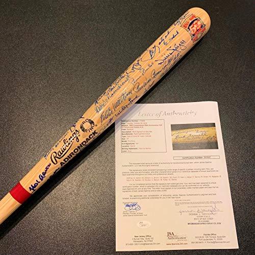 MINT Hall Of Fame Multi Signed Bat 50+ Sigs! Hank Aaron Sandy Koufax COA - JSA Certified - Autographed MLB Bats