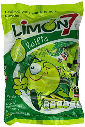 Limon 7 Paleta (Lollipop Covered with Lemon and Salt Powder]()