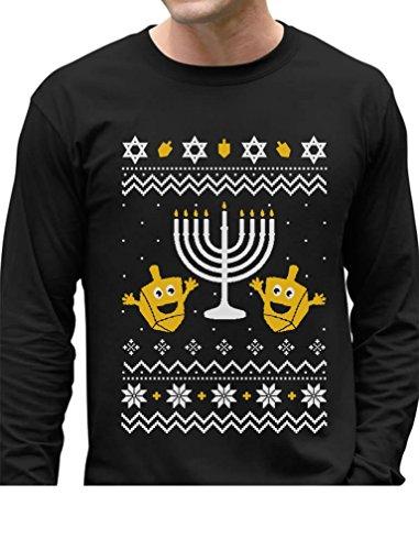 TeeStars - Funny Jewish Holidays Ugly Christmas Hanukkah Long Sleeve T-Shirt