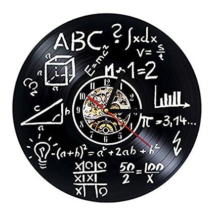 Türign® Relojes de Pared Reloj De Cuarzo Fórmula Matemáticas de Mesa Relojes, Reloj,