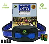 [2017 NEW CHIP] Pro Pet Works No Bark Dog Collar NO SHOCK Bark Control Training Collar For Small Medium And Large Dogs Humane And Safe Bark Deterrent 15-150lbs 9.6in-27.2in