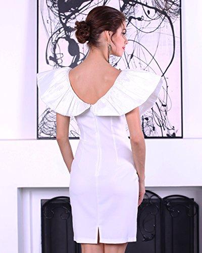 Missord - Vestido - Noche - Manga corta - para mujer blanco