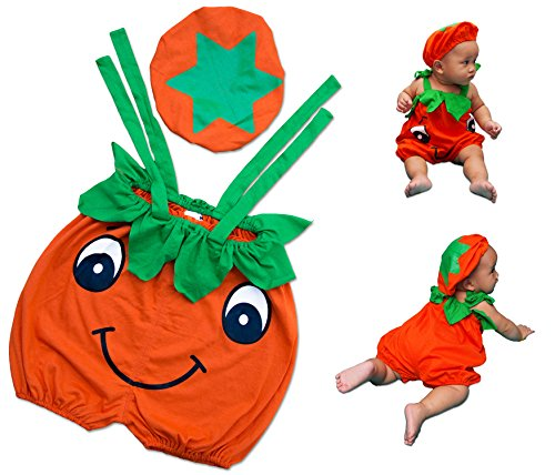 (I-Fame Infants Pumpkin Cute Costume Unisex-baby ( L (15 - 27)