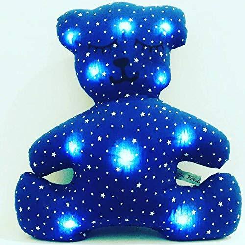 veilleuse décoration chambre enfant, ourson bleu nuit ...