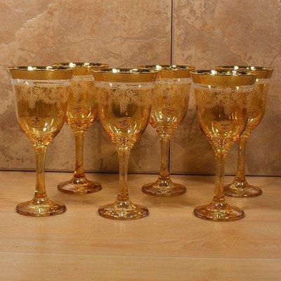 Import Goblet - Lorenzo Import Goblets (Set of 6), Amber