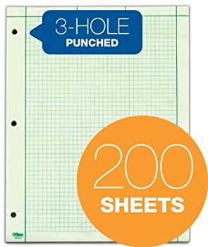 Tops Engineer's Computation Pad, 200 Sheets (35502), 8.5 X 11 Inches, 3 Hole Punch 2