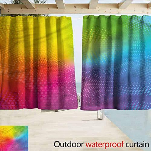 Radiant Rod Pocket - MaryMunger Rod Pocket Top Blackout Curtains/Drapes Rainbow Vibrant Radiant Colors Rod Pocket Curtain Panels W55x63L Inches