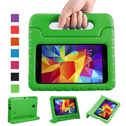 NEWSTYLE Shockproof Light Weight Kids Case with Protection Cover Handle and Stand for Samsung Galaxy Tab 4 7-inch, SM-T230, SM-T231, SM-T235 - Green (Not Fit Other Models)