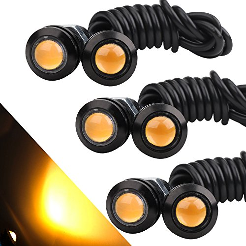 OSC 6Pcs 18mm Eagle Eye LED 9W DRL Fog Light Car Motorcycle Light Daytime Running High Power Clearance Marker Lights - Led Eye Eagle Light
