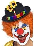 Smiffys 24088 Déguisement Homme Chapeau de Clown, Noir, Taille Unique