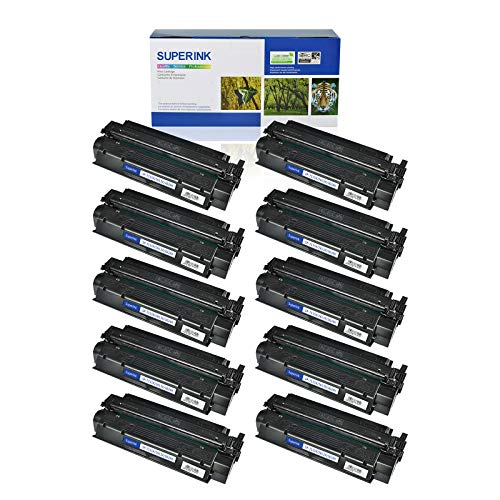 (SuperInk 10 Pack High Yield Compatible Toner Cartridge Replacement for HP 13X Q2613X Black use in Laserjet 1300 1300n 1300xi Printer (4000 Pages Yield))