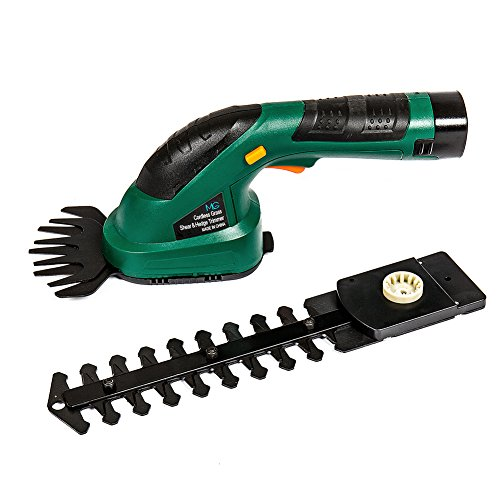 MLG Tools ET1502 7.2-Volt Lithium Rechargeable Cordless Compact Grass Shear / Shrub Trimmer Combo (Cordless Shear)