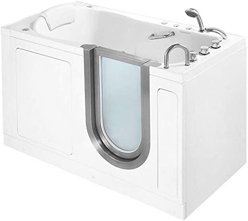 55 x 30 Deluxe Massage Whirlpool Walk In Tub Door and Drain Location Right