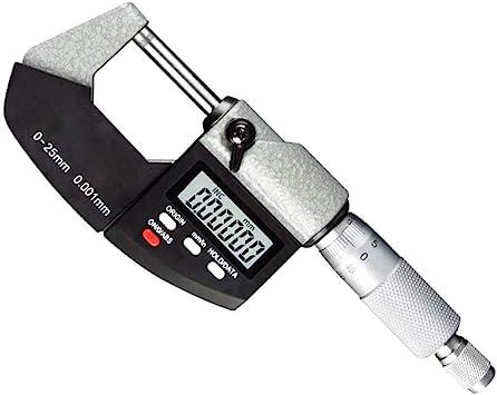 "LCD Digital Electronic Outside Micrometer Caliper 0-25mm//0-1/"" 0.00005/""//0.001mm"