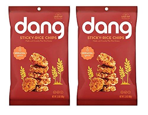 Dang Sticky Rice Chips 3.5oz, 2 Pack (Sriracha)