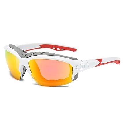 AOLVO Gafas de Sol polarizadas Deportivas de protección UV400 Gafas de equitación HD Gafas de Seguridad