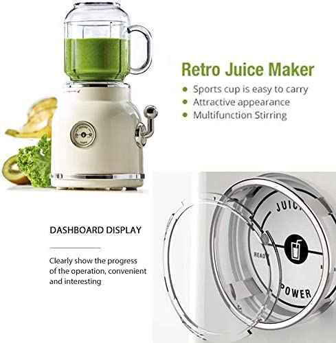 LKNJLL Máquinas exprimidor, Lenta Función Masticating Exprimidor Extractor inversa, sin BPA, Cold Press exprimidor