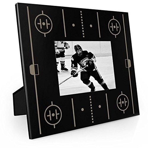 Rink Engraved Hockey Picture Frame by ChalkTalk SPORTS | Horizontal - Hockey Frame