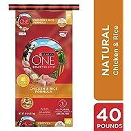 Purina ONE Natural Dry Dog Food, SmartBlend Chicken & Rice Formula - 40 lb. Bag