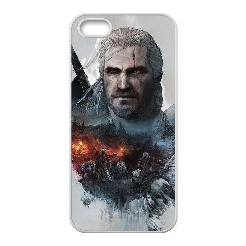 I1A28 The Witcher sauvage Hunt W4D3UP coque iPhone 5 5s cellule de cas de téléphone couvercle coque blanche SE0JBS6BY