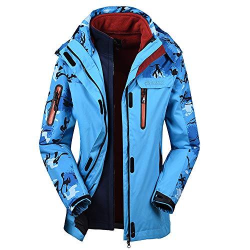 Capa Abrigo Mujer Impermeable Outwear Cáscara Asalto Suave abrigo Cálido Hombre De Invierno azul Deporte Mujer Otoño Chaqueta Cachemira Darringls ZqT5w8Z