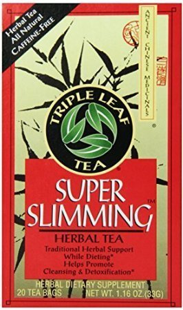 Cup Saucer Herb (Triple Leaf Tea, Tea Bags, Super Slimming, 20 Count (Pack of 6))