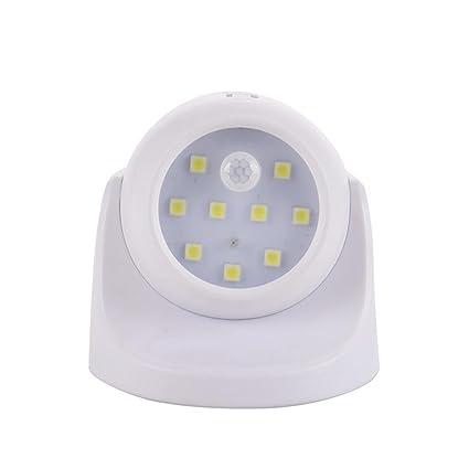 Sensor de movimiento luces, 360 ° giratorio Luz de seguridad detector de movimiento inalámbrico impermeable