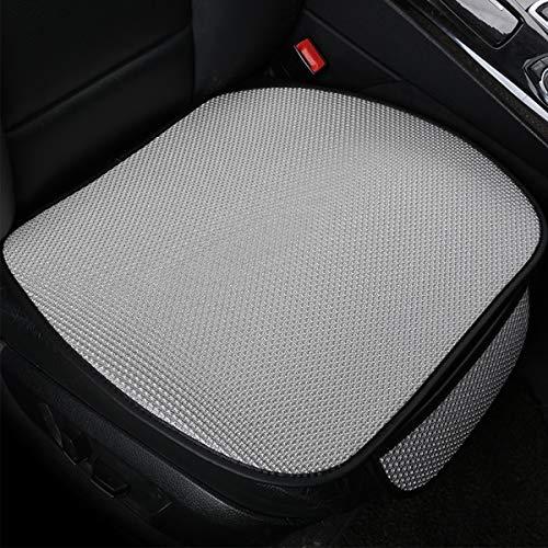 Jinxuny 3pcs Car Seat Cover Cushion Pad Mat Full Seat Covers Pu Leather Hem Breathable Flax Seat Protector Car Seat Cushions Four Seasons (Color : Grey)