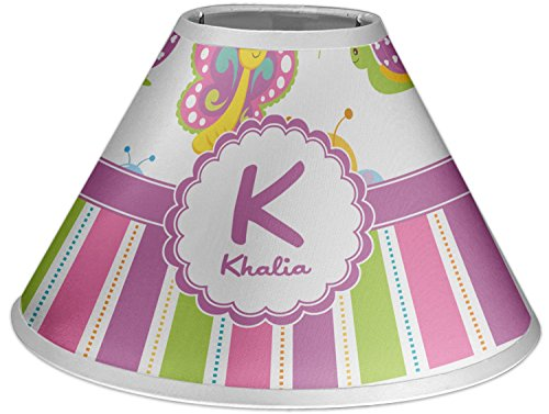 RNK Shops Butterflies & Stripes Coolie Lamp Shade (Personalized) by RNK Shops