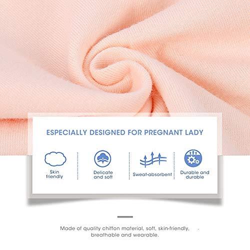 4 pezzi mutandine premaman da donna, biancheria intima di cotone a vita alta da donna mutandine regolabili da cartone… Premaman