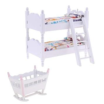 Baoblaze 1 12 Puppenhaus Kinder Schlafzimmer Möbel Miniatur