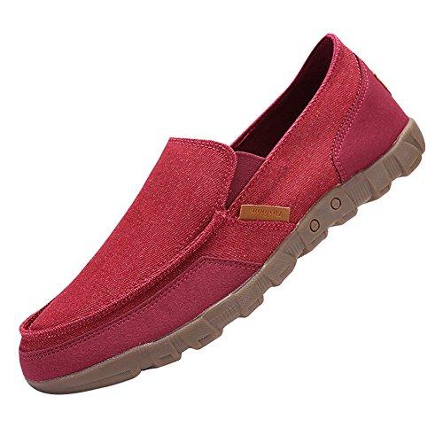 Slip Plano on 48 Zapatos de Cubierta Tenis Zapatos Juleya Zapatos Hombre Mocasines Conducción Pumps Verano Barco Sandalias Zapatos Moda Zapatillas Rojo Lona 38 Entrenadores del de Zapatos q4Bt4w1