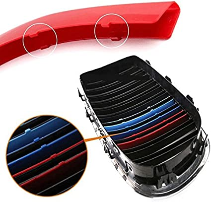 Fit for BMW X3 G01 2018 X4 F24 F26 2018 7 Slats Bars Grilles Bonnet Hood Kidney Clip in Inserts Grille Stripes Cover Decor M Sport Tech Power Performance 3 Color BizTech