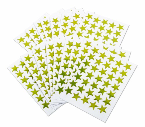 350 Gold Stars Merit Reward Stickers 15mm Self Adhesive - Office - Charts - Calenders Kids B Crafty